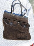 Old navy purse 100 % cow suede