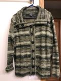 Like new. Beautiful sweater. Different colored greens. Size 1x