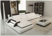 Add an Additional Decor with Black & White Themed Sofa