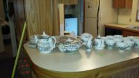 32 piece English China Royal Mail Staffordshire  multicolor