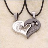 Stainless steel 2 pc necklace set