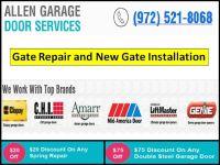 24/7 Gate Opener Repair in Allen TX | Call us (972) 521-8068 | Start $26.95