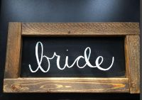 Wood made bride sign decor