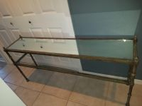 Glass and Metal entry table