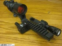For Sale: ar15 sight rail 3x9 scope with laser and flash light