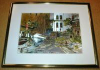 "Lionel Barrymore Vintage Color Etch Foil Print - ""Seaworthy"" - Framed"
