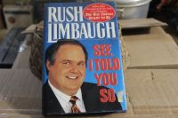 "Rush Limbaugh "" See I Told You So"" Hard Cover"