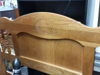REDUCED! Oak bed queen or full