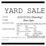 Yard Sale 2212014 (Cheap Prices-Everything Must go)