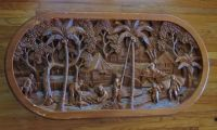 HAND-CARVED COFFEE TABLE