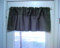 2 Croscill Green Valance 20x48 Olive Avocado Farm Rustic Farm House Kitchen