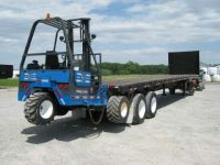 $12,900, 1986 Great Dane Trailers 45#39; Flatbed Princeton Piggyback Forklift Trailer