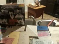 Rolling Stones memorabilia with certificates and Keith Richards all their signatures a letter ba...