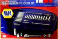 NAPA Pc. quot Dr Socket Set - plus Ratchet - SAE Metric