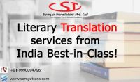 Literary Translation services from India - Best-in-Class!