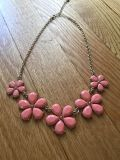 Gold/ coral necklace