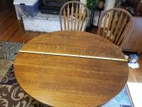 Antique quarter sawn round oak dining table and chairs