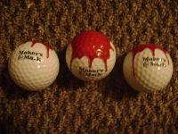 Makers Mark Collectable 3 pc. Golf Ball Set. New and Unused in Original Box.