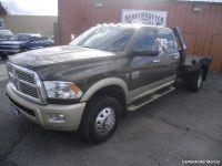 2012 Ram 3500 Laramie Longhorn Crew Cab Flatbed 4x4 Dually