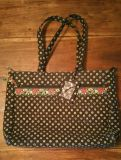 Vera Bradley Vibrant Black Laptop/Attache/Brief Case
