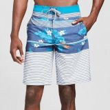 NWT Mossimo Men's Blue Floral Board Shorts - Multi - Size: 36