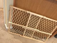 Evenflo baby gate This baby gate is 23 inch tall and expands from 26 inch to 42 inch wide. Like new used once or twice. Porch pick up