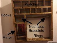 Jewelry wall organizer
