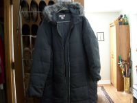puffy coat attached hood. gray 2X