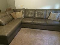 $400, Leather sectional couch