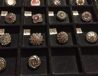 NEW, SNAPS FOR INTERCHANGEABLE JEWELRY, FITS GINGERSNAPS BRAND, PURPLE / MULTI