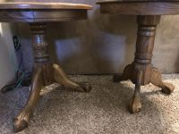 Two real oak end tables. $25 each or both for $40