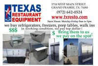 TRE- will buy your STOVES and RANGES
