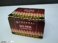 For Sale: Federal 223 Rem 100 Rounds
