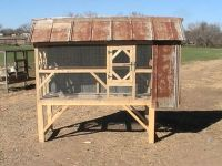 CAGE WITH NEST-CHICKEN COOP