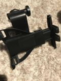 Car headrest tablet mount. Adjustable to fit all sizes