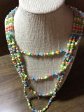 Beaded necklace. Think Easter!