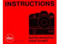LEICA R3-MOT CAMERA MOTOR WINDER INSTRUCTION MANUAL --from