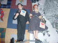 HAMILTON COLLECTION I LOVE LUCY/ LUCY & RICKY PORCELAIN DOLLS