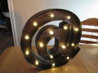"""Metal Lighted """"@"""" Sign"""