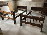 Solid wood twin bed set