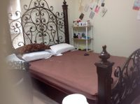 $500, Queen size antique bed frame with mattress set