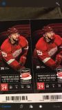 2 Red Wings Tickets