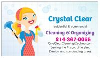 Crystal Clear Cleaning & Organizing