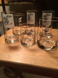 Set of 6 BC Comics Collectible Glasses