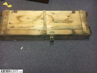 For Sale/Trade: Us Mil Ammo Box Wood/rope Handle