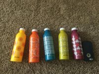Set of 5 water bottles, a in GUC, $4.00 takes all.