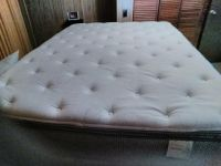 Queen size bed, pillow top