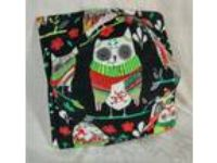 Owls in Sweaters & Scarfs cute Reversible Microwave Bowl