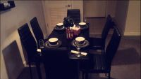 7 Piece Glass Dining Table and Chair Set for 6