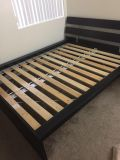IKEA Queen size bed frame with slatted bed base